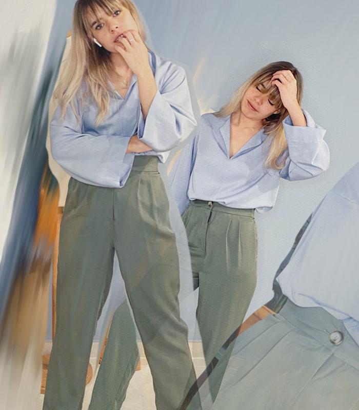 Pantalon LUZ – Caqui Roca Mood