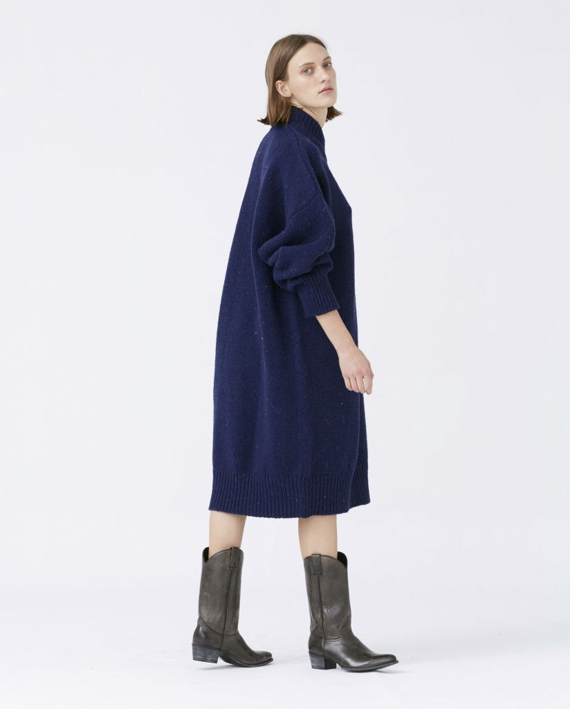 dress woman no15 navy babaa