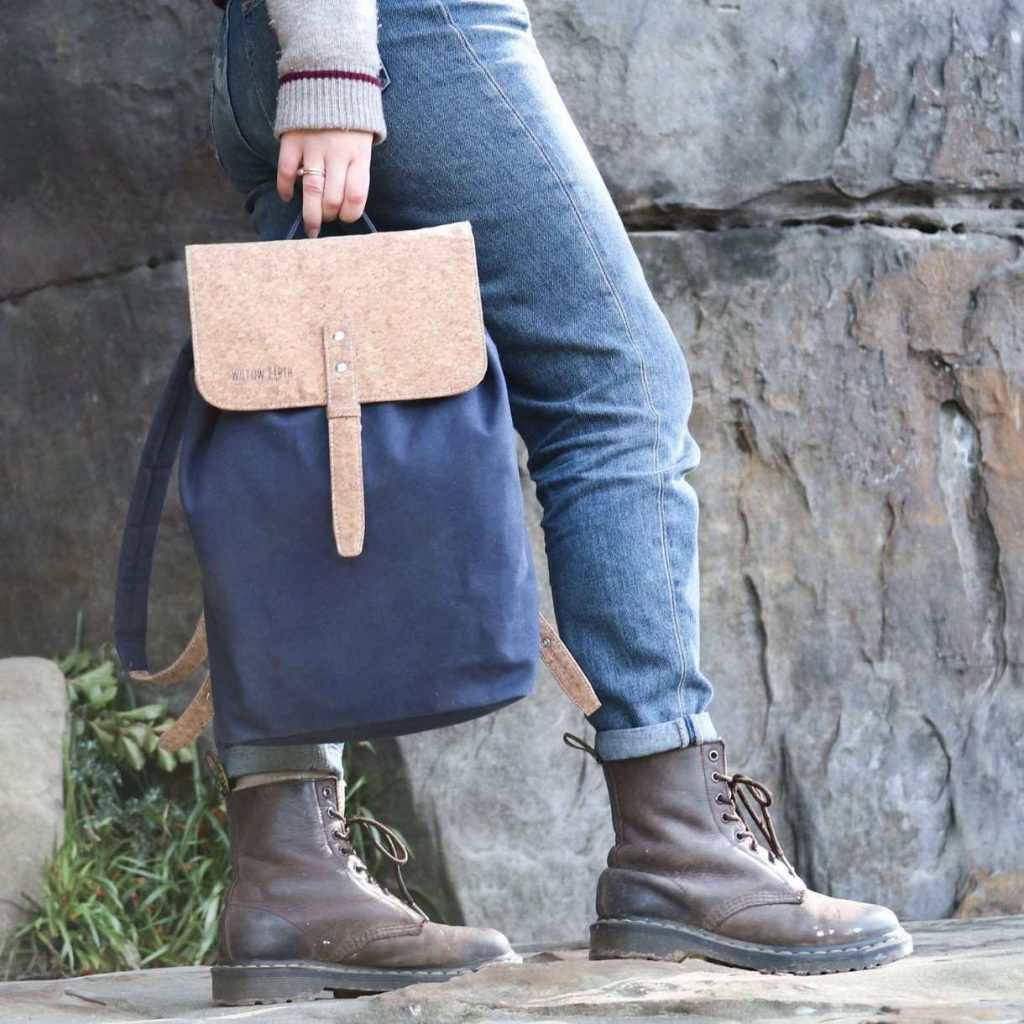 Willow Earths canvas and cork backpack